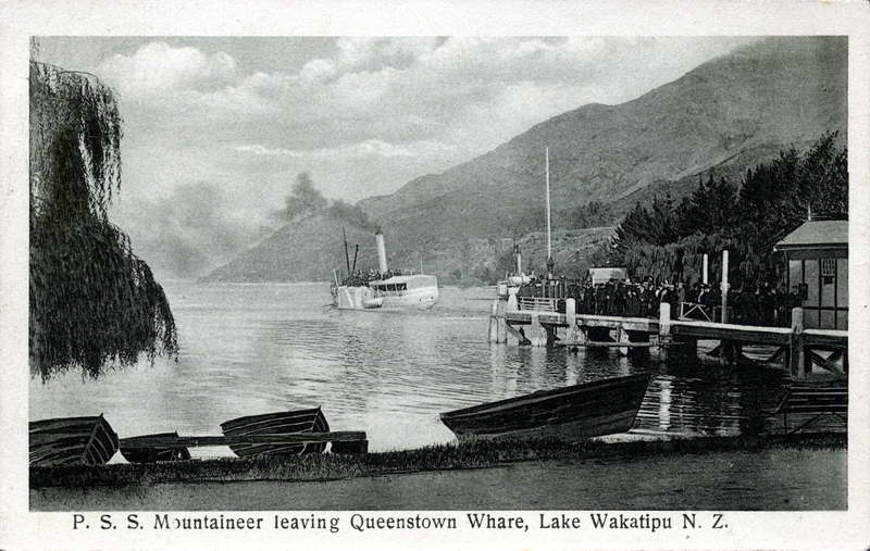 Mountaineer leaving Queenstown Whare