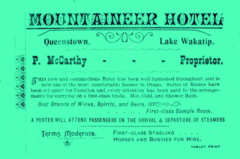 Mountaineer Hotel - Advertising