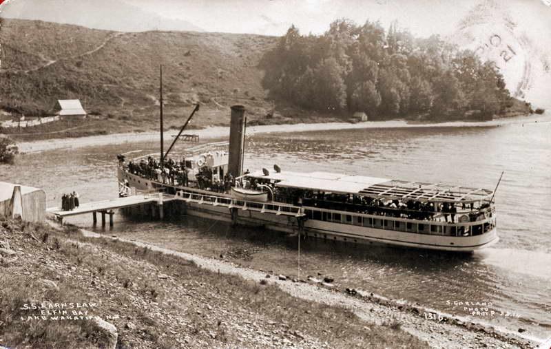S.S Earnslaw at Elfin Bay