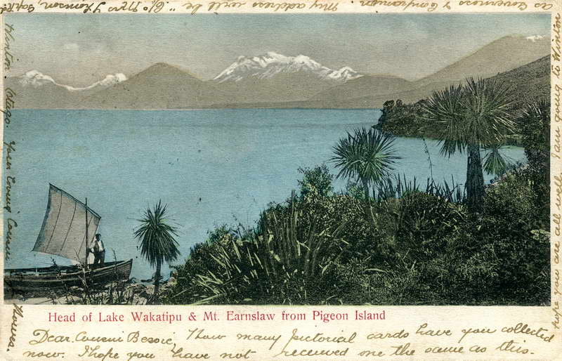 Mount Earnslaw from Pigeon Island