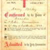 Harry Birley Confirmation Certificate.
