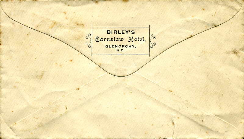 Earnslaw Hotel Envelope