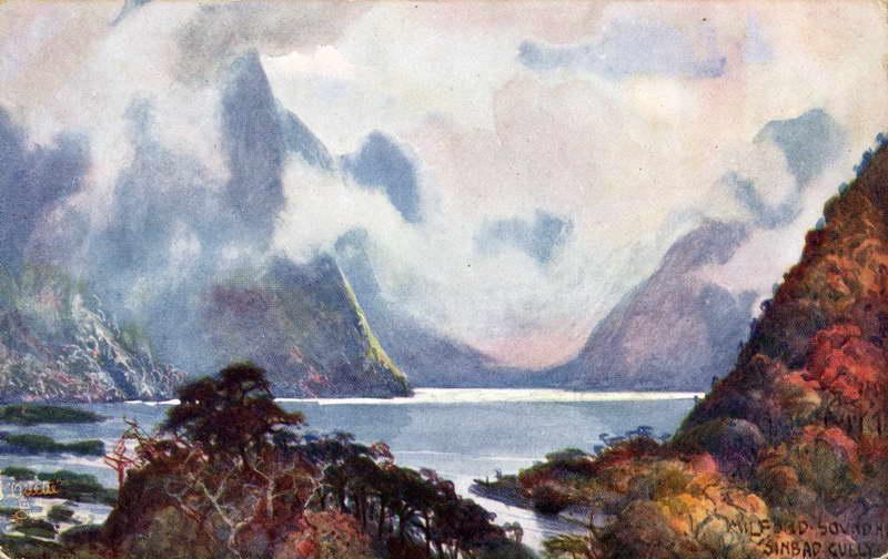 Sinbad Gully, Milford Sound - A.H Fullwood
