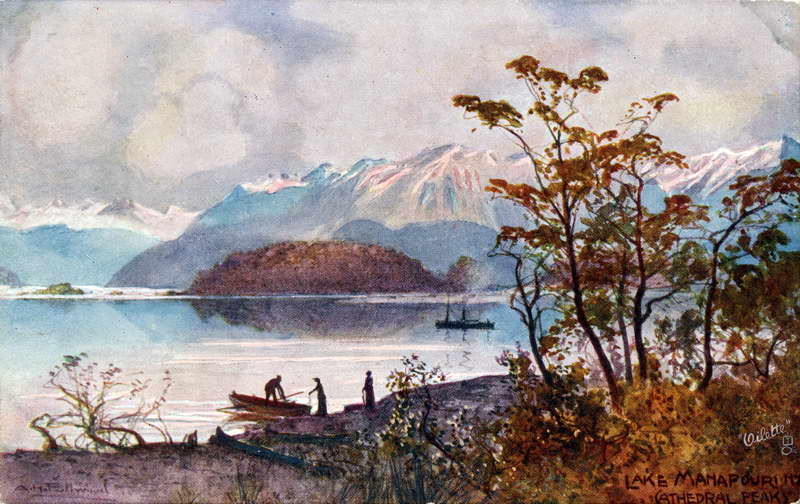 Cathedral Peaks, Manapouri - A.H Fullwood
