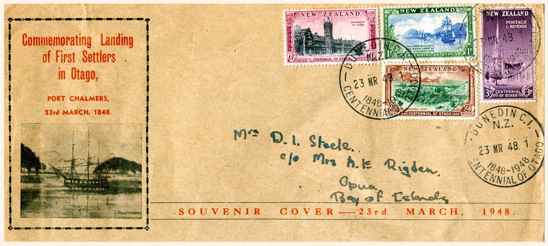 Commemorative Cover, Early Setlers