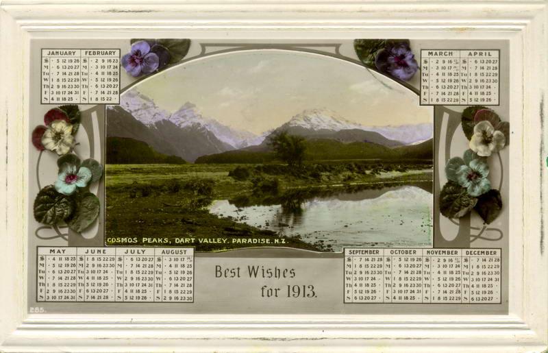 Cosmos Peaks, 1913 Calendar Card