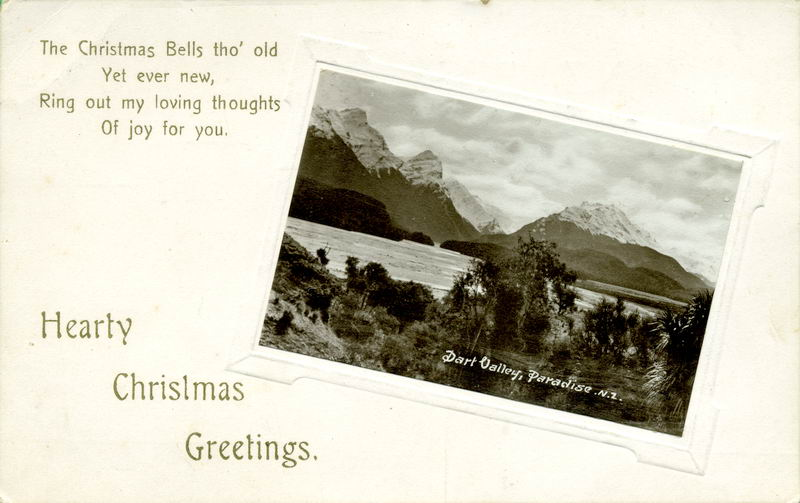 Dart Valley, Paradise, Xmas Greeting Card