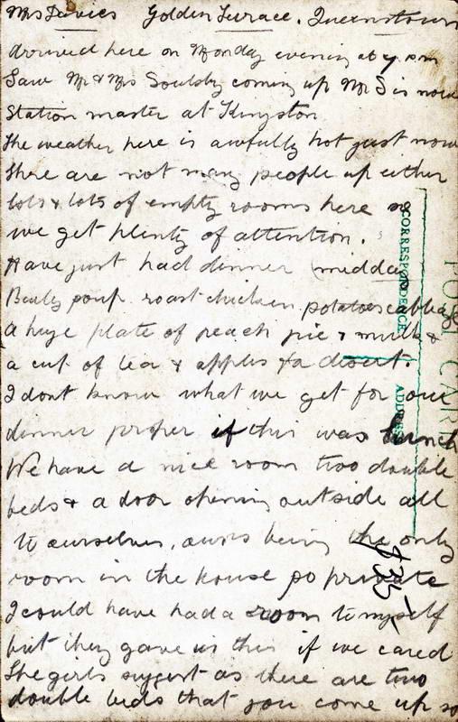 Davies Boarding House Correspondence