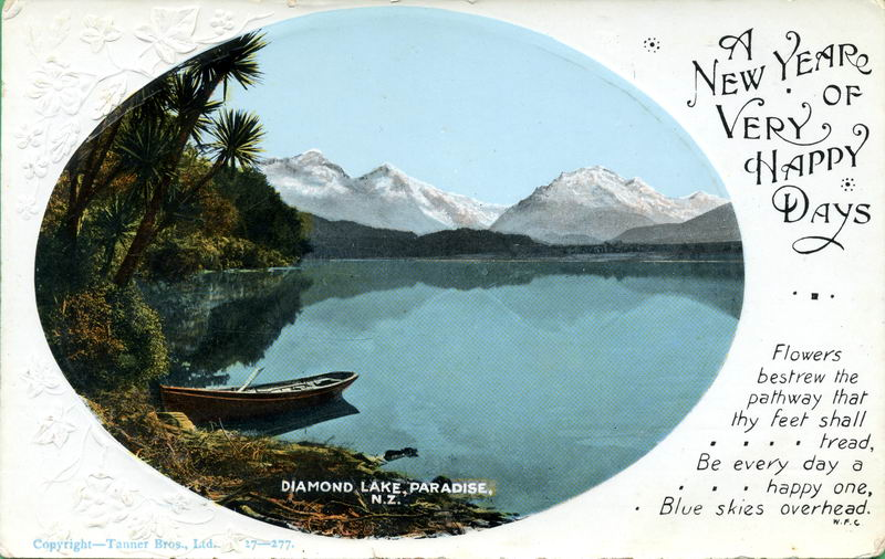 Diamond Lake, New Year Greeting Card
