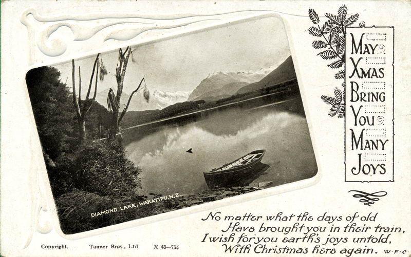 Diamond Lake, Xmas Greeting Card