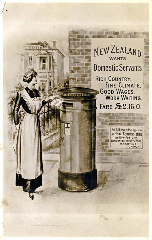 Domestic Servants, Advertising Card