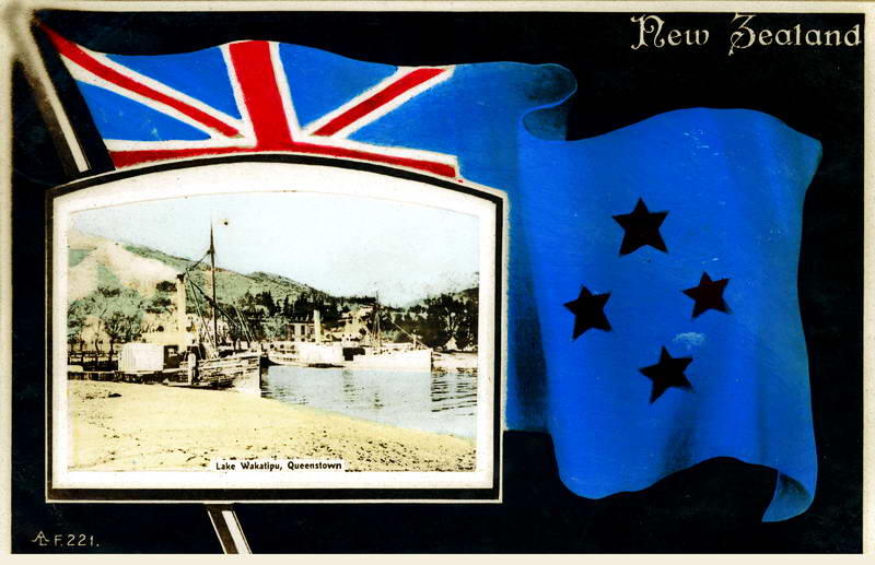 Lake Wakatipu, Flag Greeting Card