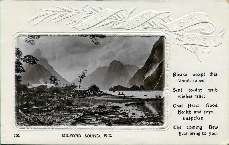 Milford Sound, New Year Greeting Card