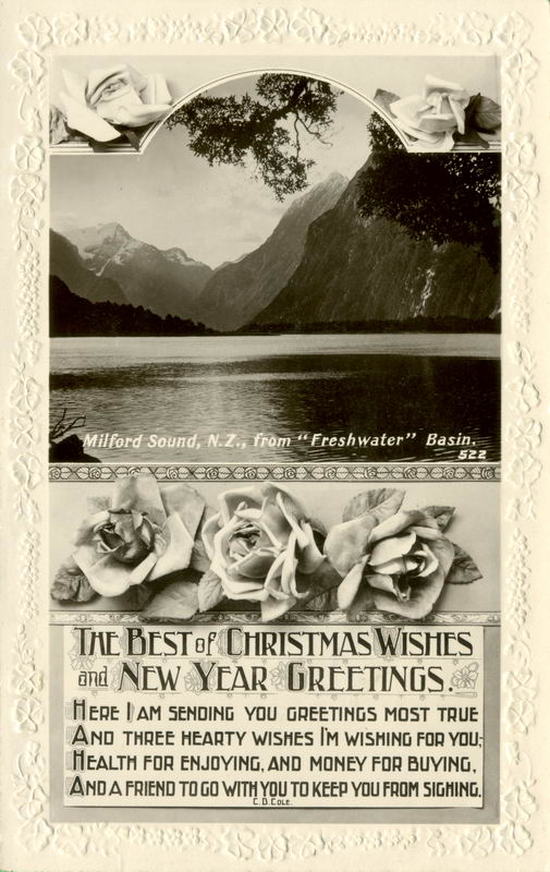 Milford Sound, Xmas Greeting Card