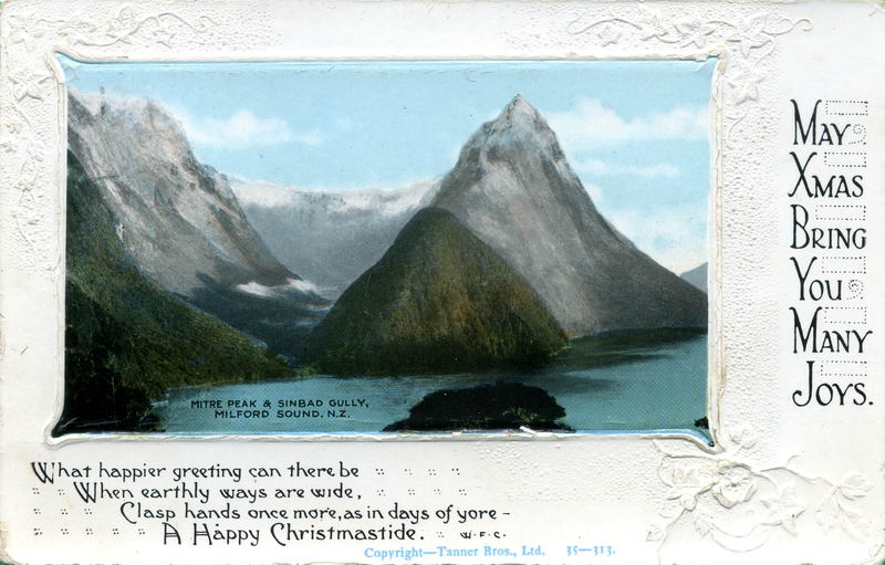 Mitre Peak, Xmas Greeting Card