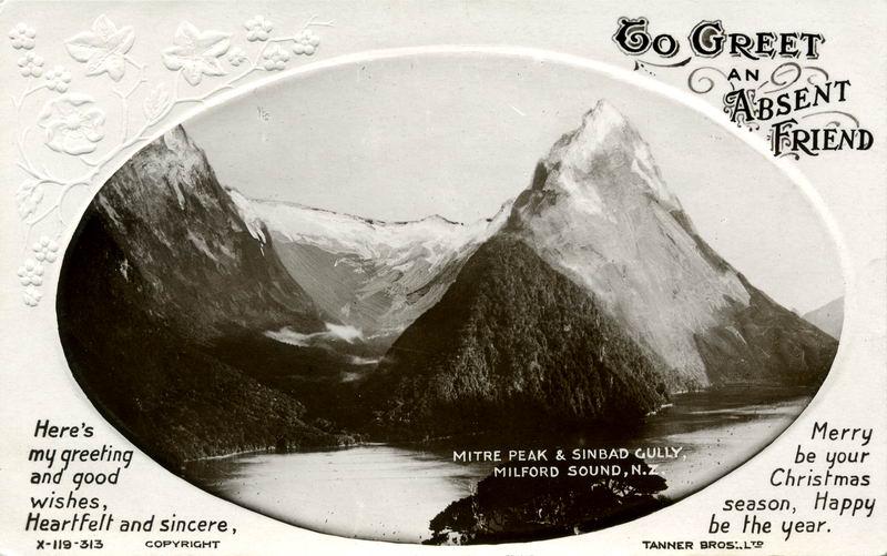Mitre Peak, Xmas Greeting Card