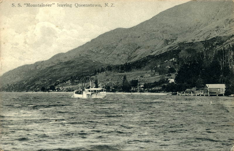 S.S Mountaineer Leaving Queenstown