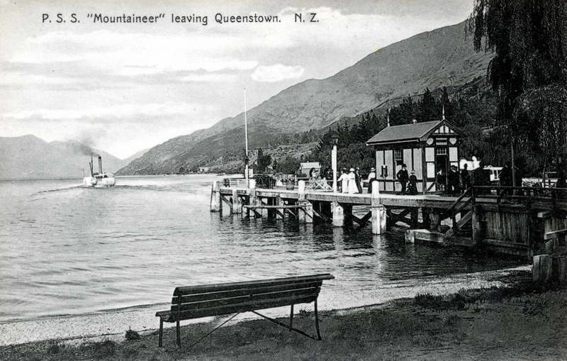 P.S.S Mountaineer leaving Queenstown