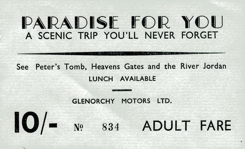 Paradise, Glenorchy Motors Ticket