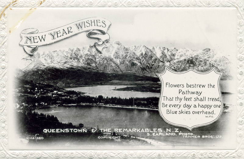 Queenstown, New Year Greeting Card