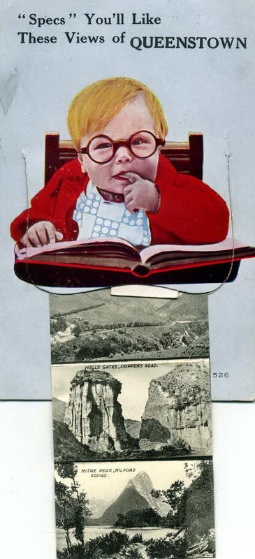 Queenstown Specs, Pullout Novelty Card