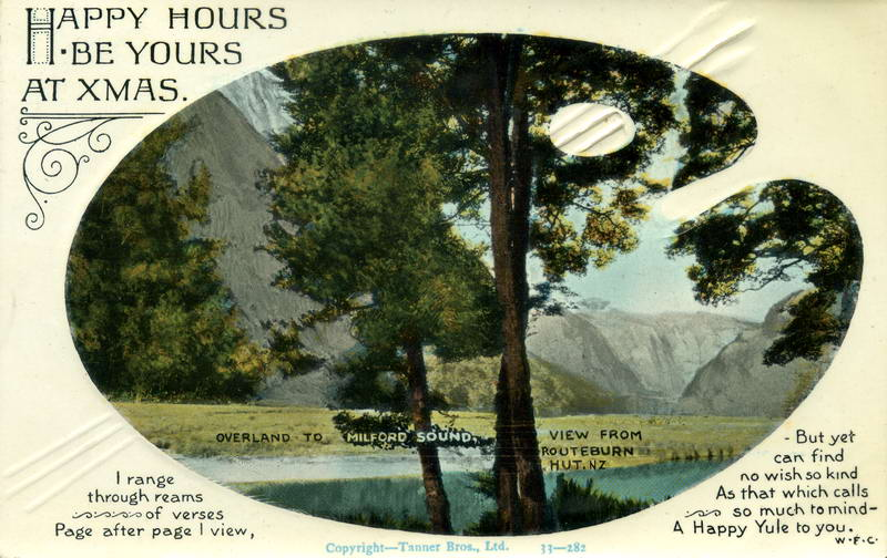 Routeburn View, Xmas Greeting Card
