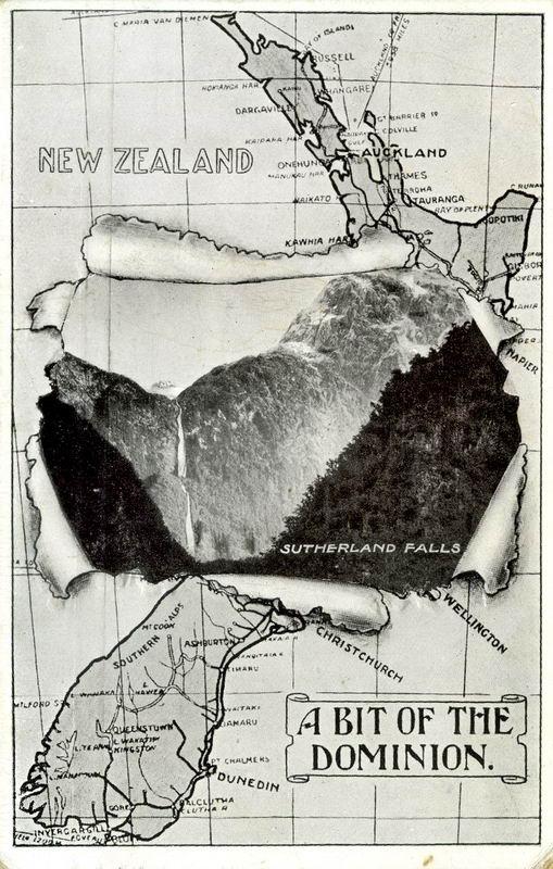 Sutherland Falls, Map Novelty Card