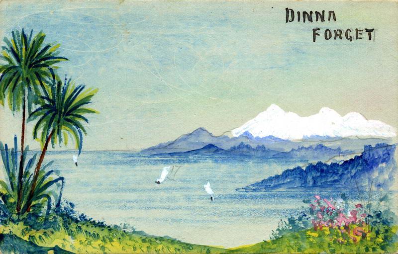 Lake Scene, Art Card
