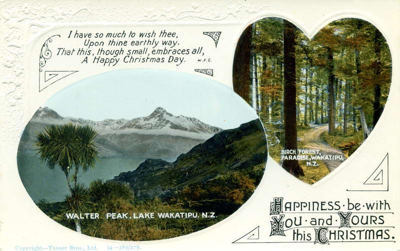 Walter Peak, Paradise, Xmas Greeting Card
