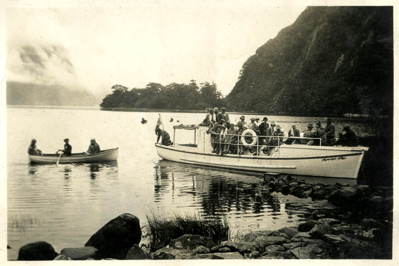 Heading for Head of Milford Sound, 1928