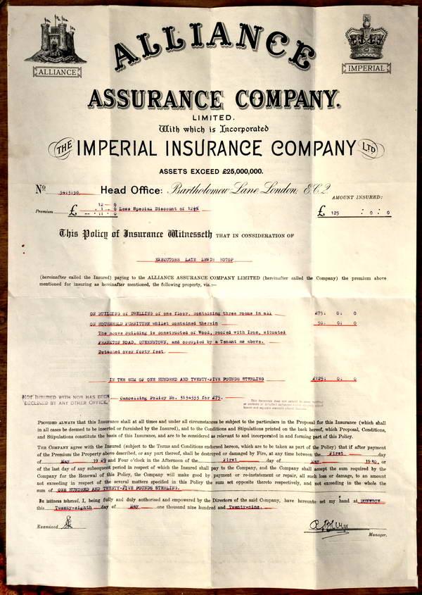 Mayor Hotop, Insurance Policy, Frankton
