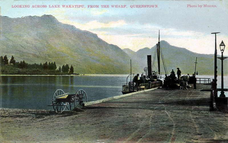 Looking across Lake Wakatipu from the Wharf